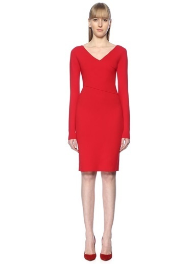 Diane Von Furstenberg Elbise Kırmızı